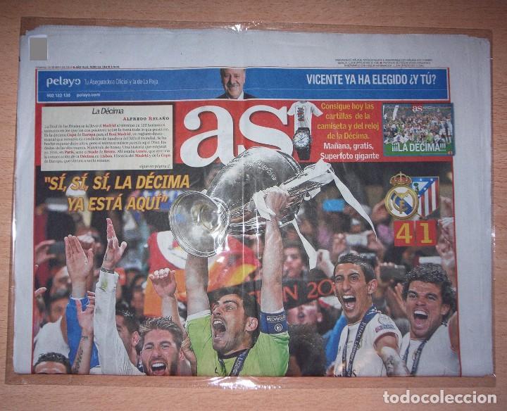 PERIODICO AS NUEVO REAL MADRID CAMPEON UEFA CHAMPIONS LEAGUE TEMPORADA 2013 2014 13 14 (Coleccionismo Deportivo - Revistas y Periódicos - As)