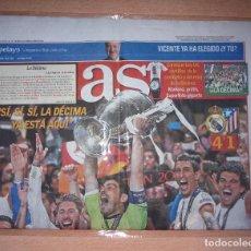 Coleccionismo deportivo: PERIODICO AS NUEVO REAL MADRID CAMPEON UEFA CHAMPIONS LEAGUE TEMPORADA 2013 2014 13 14. Lote 103989947
