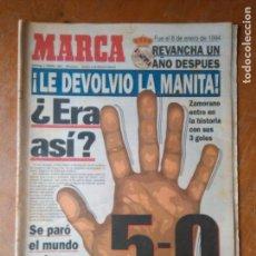 Coleccionismo deportivo: DIARIO MARCAR FUTBOL 1995 - REAL MADRID BARCELONA 5 - 0 . Lote 104140819
