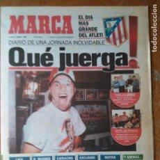 Coleccionismo deportivo: DIARIO MARCAR FUTBOL 1996 - EL DIA MAS GRANDE DEL ATLETI. Lote 104140899
