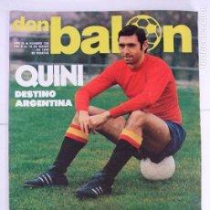 Coleccionismo deportivo: REVISTA DON BALÓN Nº 126 AÑO 1978 - QUINI REAL CLUB RECREATIVO HUELVA POSTER ATHLETIC BILBAO. Lote 104370963