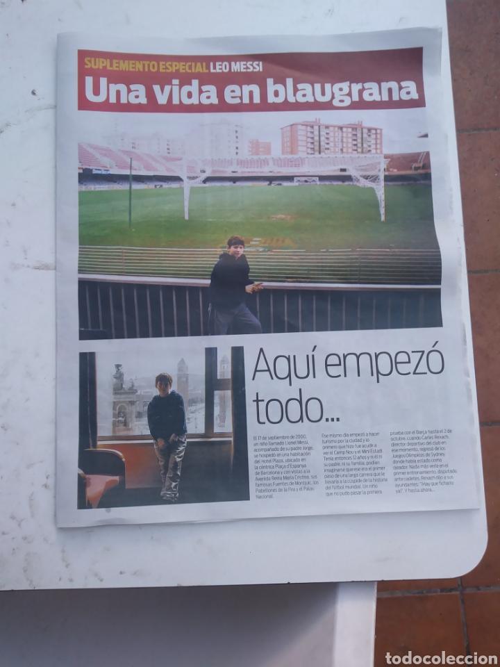 SUPLEMENTO SPORT - MESSI, UNA VIDA EN BLAUGRANA (Coleccionismo Deportivo - Revistas y Periódicos - Sport)