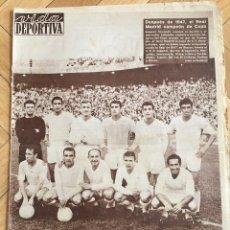 Coleccionismo deportivo: CJ VIDA DEPORTIVA (9-7-1962) CAMPEON COPA GENERALISIMIO REAL MADRID 2-1 SEVILLA BARCELONA PEÑAROL. Lote 104717811