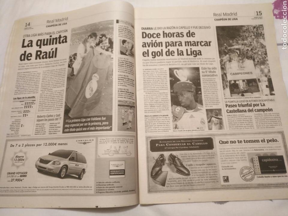 Coleccionismo deportivo: DIARIO MARCA -18 junio 2007CAMPEON DE LIGA 2006-2007 30 LIGAS REAL MADRID LA LIGA DE LAS REMONTADAS - Foto 8 - 104732479