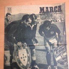 Coleccionismo deportivo: REVISTA MARCA Nº384 1950 ESPAÑA - PORTUGAL . Lote 105269695