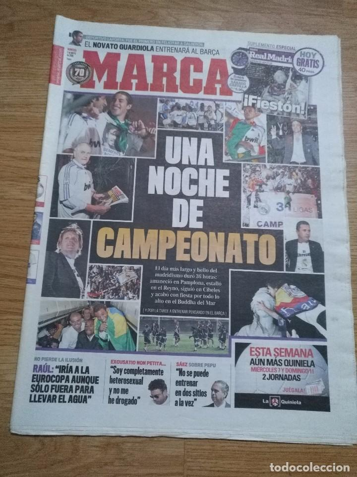 Coleccionismo deportivo: DIARIO MARCA -06 MAYO 2008 CAMPEON DE LIGA 2076-2008 31 LIGAS REAL MADRID CON SUPLEMENTO ESPECIAL - Foto 2 - 105365407