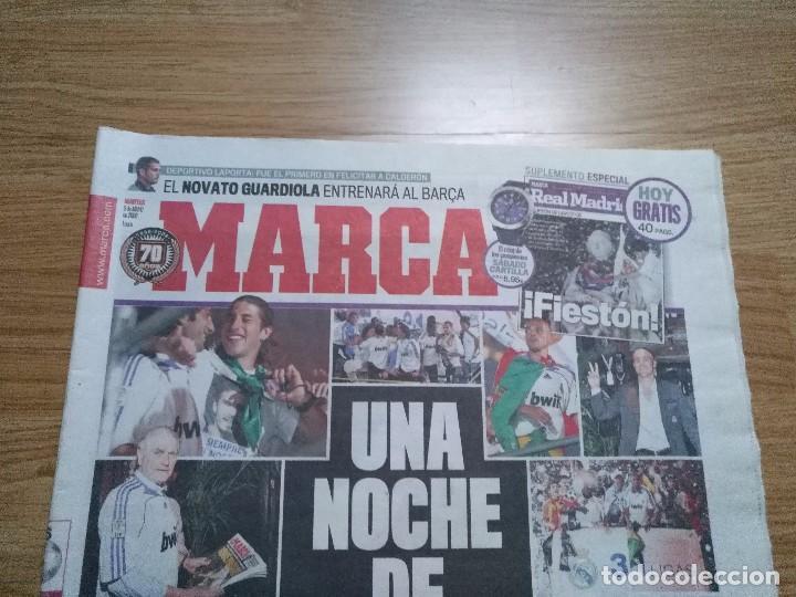 Coleccionismo deportivo: DIARIO MARCA -06 MAYO 2008 CAMPEON DE LIGA 2076-2008 31 LIGAS REAL MADRID CON SUPLEMENTO ESPECIAL - Foto 3 - 105365407