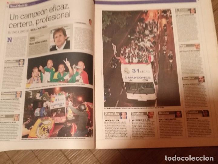 Coleccionismo deportivo: DIARIO MARCA -06 MAYO 2008 CAMPEON DE LIGA 2076-2008 31 LIGAS REAL MADRID CON SUPLEMENTO ESPECIAL - Foto 7 - 105365407