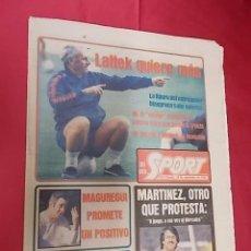 Coleccionismo deportivo: SPORT. Nº 657. 19 SEPTIEMBRE 1981. SCHUSTER. ME ILUSIONA GANAR EL TITULO DE LIGA. Lote 105627367