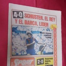 Coleccionismo deportivo: SPORT. Nº 659. 21 SEPTIEMBRE 1981. 4-0. SCHUSTER, EL REY Y EL BARÇA, LIDER.. Lote 105628323