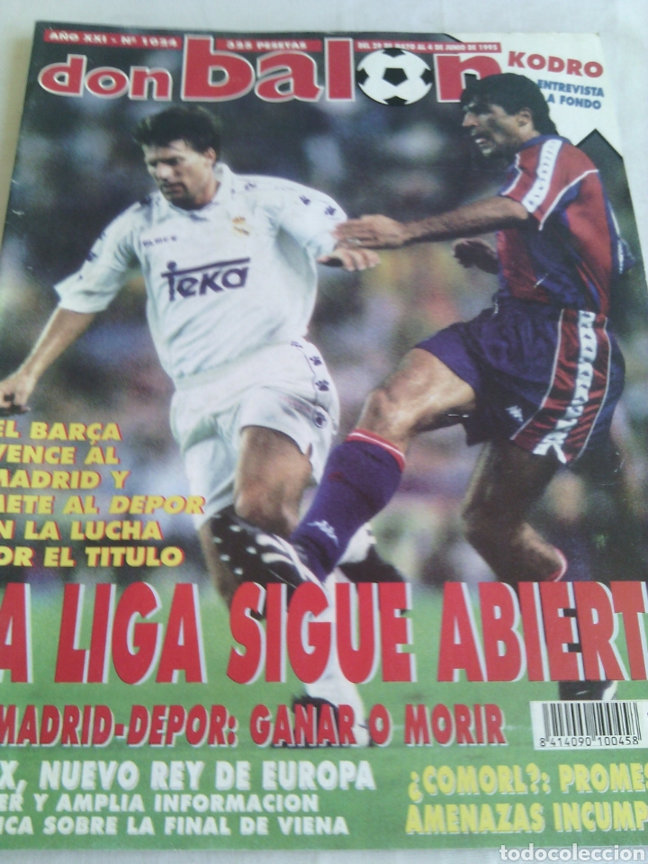 DON BALON N-1024 AÑO:1995 POSTER:AJAX CAMPEON EUROPA 94-95 (Coleccionismo Deportivo - Revistas y Periódicos - Don Balón)