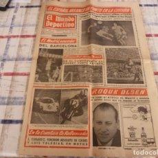 Coleccionismo deportivo: MUNDO DEPORTIVO(31-10-66)CORUÑA 1 ESPAÑOL 1,R.MADRID VENCE BARÇA EN BASKET.. Lote 105784931