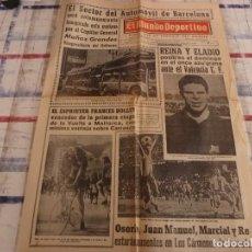 Coleccionismo deportivo: MUNDO DEPORTIVO(20-4-67)REINA Y ELADIO(BARÇA) PUEDEN REAPARECER FRENTE VALENCIA.. Lote 105786431