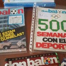Coleccionismo deportivo: DON BALON NUMEROS HISTORICOS - DEL 1 AL 1870 / LOTAZO ESPECIAL Y ..... Lote 105858123