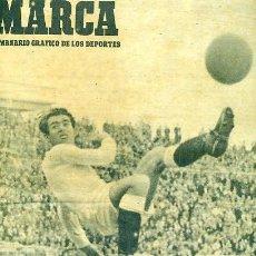 Coleccionismo deportivo: REVISTA MARCA Nº385 18 ABRIL 1950 MADRID - TARRAGONA. Lote 105925379