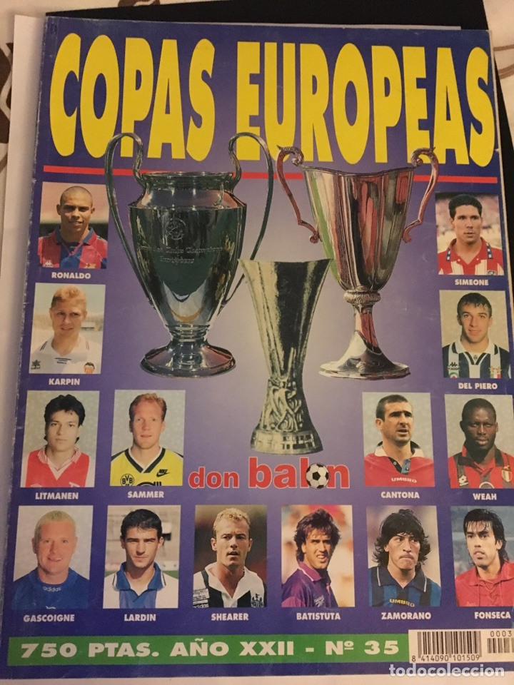 REVISTA EXTRA DON BALÓN COPAS EUROPEAS 96-97 (Coleccionismo Deportivo - Revistas y Periódicos - Don Balón)
