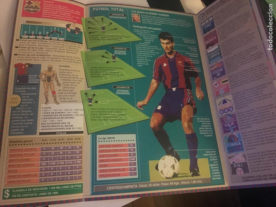 Coleccionismo deportivo: Pep Guardiola Sport la plantilla del Barça FC Barcelona 96-97 ficha - Foto 3 - 106107352