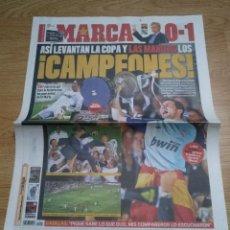 Coleccionismo deportivo: DIARIO MARCA - 21 ABRIL 2011 CAMPEON DE COPA DEL REY- MOU GANA A PEP - REAL MADRID - CR7. Lote 106454783