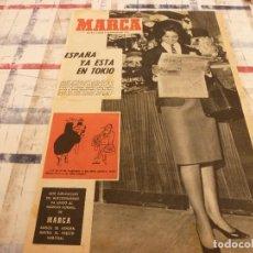 Coleccionismo deportivo: SUPLEM.MARCA(8-10-64)ESPAÑA YA ESTÁ EN TOKIO PARA OLIMPIADAS,MANUEL VELAZQUEZ(BOXEO). Lote 106623799