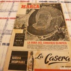 Coleccionismo deportivo: SUPLEM.MARCA(15-10-64)LAS OLIMPIADAS DE TOKIO INCLUSO EN MODA!!! SEAT 1500.. Lote 106623919