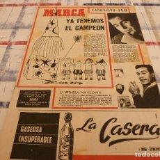 Coleccionismo deportivo: SUPLEM.MARCA(21-1-65)PUSKAS(R.MADRID)CAMPEONES SEGÚN MAGO KARAG,MANDARINO.. Lote 106680555