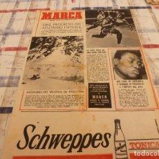 Coleccionismo deportivo: SUPLEM.MARCA(4-2-65)LEGRÁ(BOXEO)EL DEPORTE ESPAÑOL EN 1964,ROSSANA YANNI Y PIETRANGELI. Lote 106683435