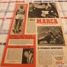 Coleccionismo deportivo: SUPLEM.MARCA(11-3-65)COLUNA Y EUSEBIO(BENFICA)ZÁRRAGA,ANTOÑITA ANDALUCIA Y UFARTE(AT.MADRID). Lote 106883659