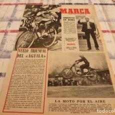 Coleccionismo deportivo: SUPLEM.MARCA(8-4-65)UNAMUNO(BILBAO)BAHAMONTES,GLORIA CÁMARA Y JOSE MARIA(ESPAÑOL). Lote 106885191