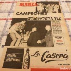 Coleccionismo deportivo: SUPLEM.MARCA(15-4-65)R.MADRID CAMPEÓN EUROPA BASKET POR 2ª VEZ!!ESPAÑA JUVENIL,MARA CRUZ Y BETANCORT. Lote 106885727