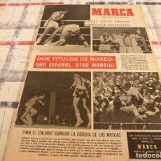 Coleccionismo deportivo: SUPLEM.MARCA(29-4-65)CIRIACO(R.MADRID)JOHN SURTEES,MARIA JOSÉ ALONSO Y VELILLA.. Lote 106891191