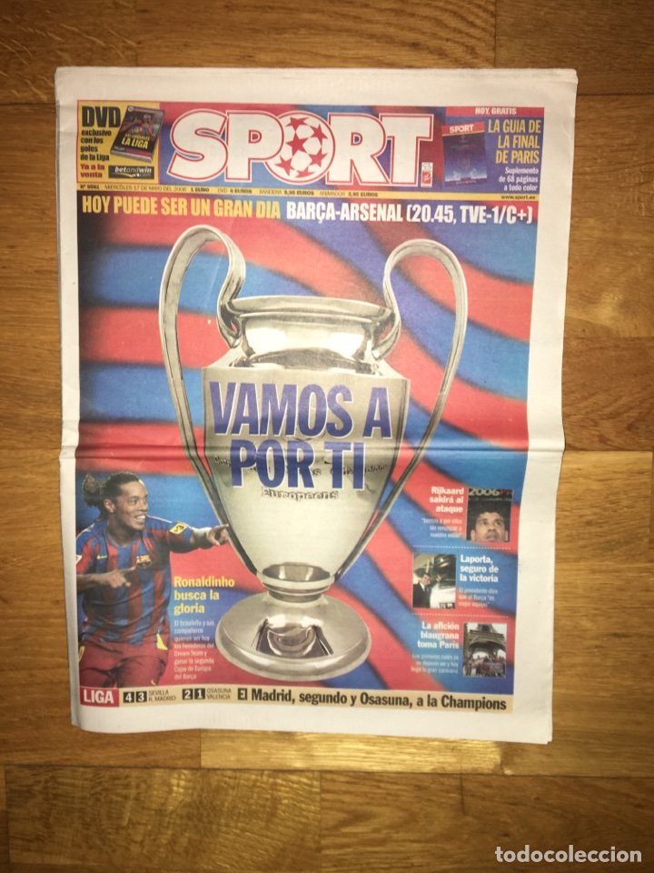 LOTE SPORT 12, 16, 17 Y 19 DE MAYO 2006 BARÇA ARSENAL FC BARCELONA CHAMPIONS (Coleccionismo Deportivo - Revistas y Periódicos - Sport)