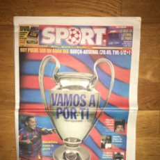 Coleccionismo deportivo: LOTE SPORT 12, 16, 17 Y 19 DE MAYO 2006 BARÇA ARSENAL FC BARCELONA CHAMPIONS. Lote 107178543