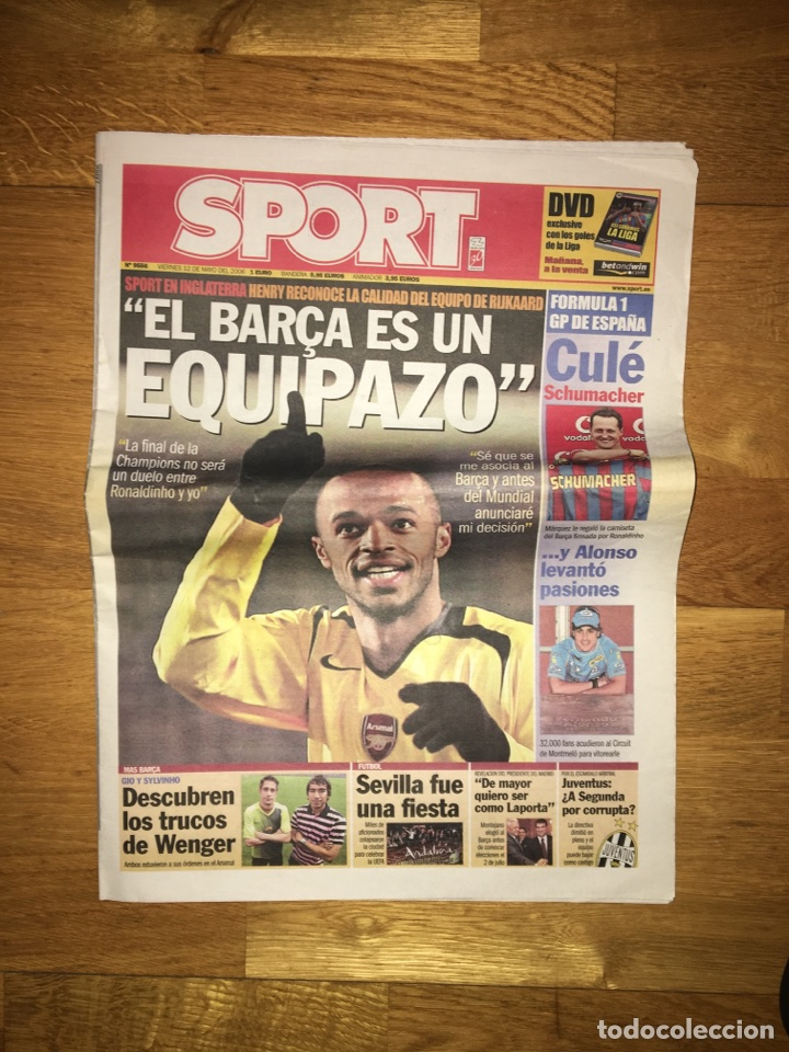 Coleccionismo deportivo: Lote Sport 12, 16, 17 y 19 de mayo 2006 Barça arsenal FC Barcelona champions - Foto 4 - 107178543