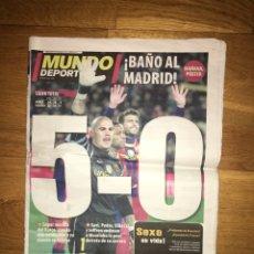 Coleccionismo deportivo: MUNDO DEPORTIVO 30 NOVIEMBRE 2010 FC BARCELONA 5-0 REAL MADRID BARÇA GUARDIOLA MOURINHO. Lote 107178579