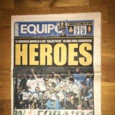 Coleccionismo deportivo: SPORT EQUIPO REAL MADRID 2-3 REAL ZARAGOZA CAMPEÓN COPA DEL REY 18 MARZO 2004. Lote 107178663
