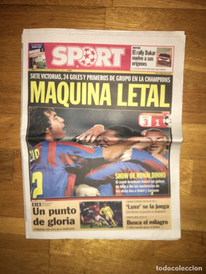 SPORT 23 NOVIEMBRE 2005 BARÇA 3-1 W.BREMEN FC BARCELONA (Coleccionismo Deportivo - Revistas y Periódicos - Sport)