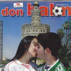 Coleccionismo deportivo: REVISTA DON BALON N 1331.REAL BETIS-SEVILLA-GUARDIOLA-POSTER FIGO R.MADRID.. Lote 107420039