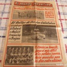 Coleccionismo deportivo: MUNDO DEPORTIVO(24-10-65)PROX.ESPAÑA-EIRE,ROJO Y LAVIN(ATH.BILBAO)C.D.CONDAL.LA LUCHA LIBRE.. Lote 107443863