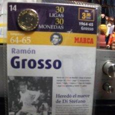 Coleccionismo deportivo: MONEDA DEL REAL MADRID. 14.- LIGA 1964 1965. RAMÓN GROSSO. 30 LIGAS 30 MONEDAS. 2007. MARCA.. Lote 107460695