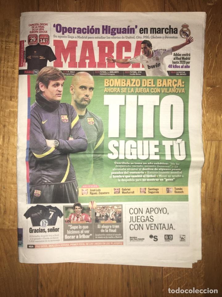 MARCA 28 ABRIL 2012 TITO SIGUE TU VILANOVA GUARDIOLA BARÇA FC BARCELONA (Coleccionismo Deportivo - Revistas y Periódicos - Marca)