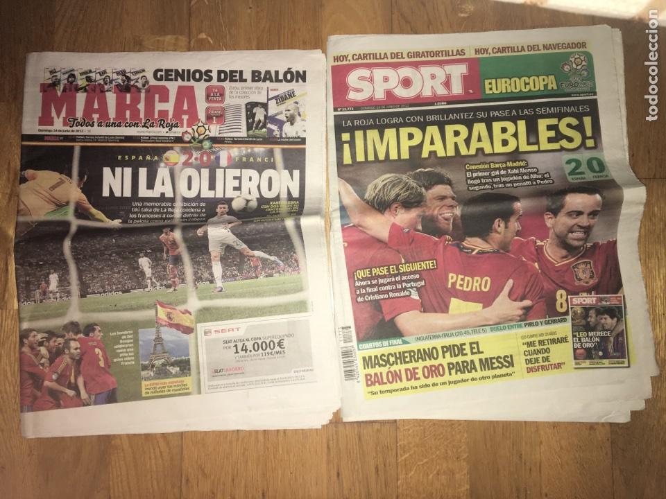 LOTE MARCA Y SPORT 24 JUNIO 2012 ESPAÑA 2 FRANCIA 0 SELECCIÓN ESPAÑOLA EUROCOPA (Coleccionismo Deportivo - Revistas y Periódicos - Marca)