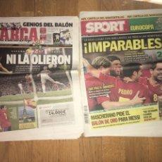 Coleccionismo deportivo: LOTE MARCA Y SPORT 24 JUNIO 2012 ESPAÑA 2 FRANCIA 0 SELECCIÓN ESPAÑOLA EUROCOPA. Lote 107468840