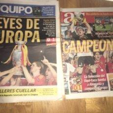 Coleccionismo deportivo: LOTE AS, SPORT, EQUIPO, MUNDO DEPORTIVO 30 JUNIO 2008 ESPAÑA CAMPEÓN EUROPA EUROCOPA SELECCIÓN. Lote 107468856