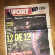 Coleccionismo deportivo: SPORT 18 DICIEMBRE 2005 BARÇA ETO'O FC BARCELONA. Lote 107468958