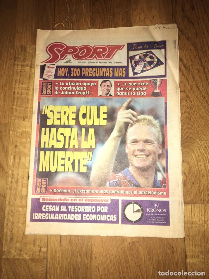 SPORT 25 MARZO 1995 KOEMAN CRUYFF BARÇA FC BARCELONA (Coleccionismo Deportivo - Revistas y Periódicos - Sport)