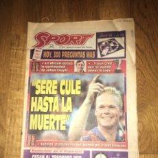 Coleccionismo deportivo: SPORT 25 MARZO 1995 KOEMAN CRUYFF BARÇA FC BARCELONA. Lote 107468995