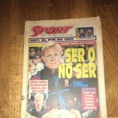 Coleccionismo deportivo: SPORT 24 DICIEMBRE 1994 BARÇA FC BARCELONA KOEMAN. Lote 107469031