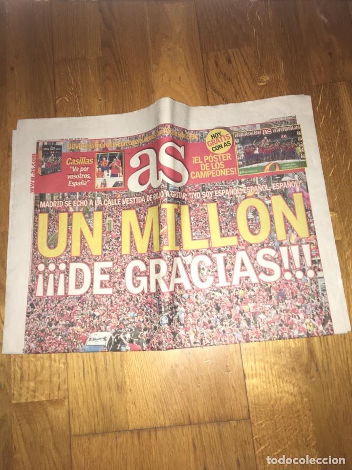 AS 3 JÚLIO 2012 ESPAÑA SELECCIÓN ESPAÑOLA EUROCOPA CAMPEÓN (Coleccionismo Deportivo - Revistas y Periódicos - As)