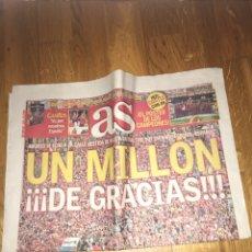 Coleccionismo deportivo: AS 3 JÚLIO 2012 ESPAÑA SELECCIÓN ESPAÑOLA EUROCOPA CAMPEÓN. Lote 107469074