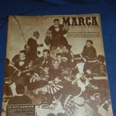 Colecionismo desportivo: (M21) MARCA NUM 741 MADRID 1957 - PORTADA HOCKEY SOBRE HIELO , ALEMANES Y POLACOS. Lote 107595271